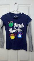 Girls Size Medium M Mudd Nerdy Birdies Owl Long Sleeve Shirt - £3.06 GBP