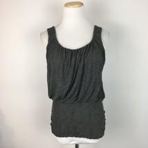 Bailey 44 Women's Gray Stretch Scoopneck Sleeveless Tank Top Shirt Size ... - $21.77