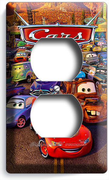 Primary image for CARS 3 LIGHTNING MCQUEEN SALLY MATER DISNEY MOVIE POWER OUTLET WALL PLATE COVER