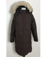 L L Bean Womens Coat Goose Down Puffer Mid Length Sz M - $48.49