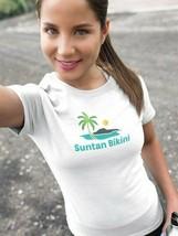 Suntan Bikini Fruit Of The Loom Women's T Shirt Size Large image 2