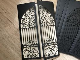 Gate wedding invitation card,Laser Cut Wedding Invitation,50pcs Invitations - $53.80