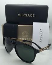 56d56700496f New VERSACE Sunglasses VE 4312 GB1 71 60-15 Black  amp  Gold Frame