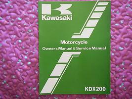 1983 83 Kawasaki KDX200 Kdx 200 KDX200-A1 KDX200A1 200A1 #2 Owner Service Manual - $23.93