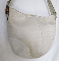 Preloved Coach Signature C Winter White Large Shoulder Purse Bag - $88.48