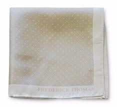 Frederick Thomas 100% SETA BEIGE & Spilla a macchie