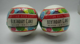Fizz & Bubble New Artisan Bath Fizzy Ball Bath Bomb BIrthday Cake 6.5 OZ... - $11.87