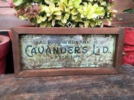 Vintage Old Original Cavanders Ltd London Cigarette Adv Tin Sign Board - $78.21