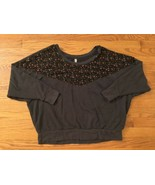 Free People Brown Floral Patterned Sweater Size M - $26.72