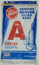 Hoover Vacuum Bags Type A 3 Pack Genuine For Upright Cleaners USA - $9.79