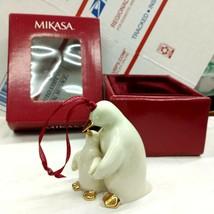 """Mikasa 3.5"""" Porcelain Ornament Animal Christmas KT245-502 Penguin Mother Child - $15.83"""