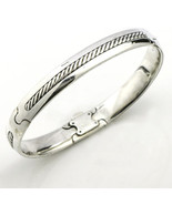 David Yurman Men's Cable Bangle Bracelet with Gold XL - $589.05