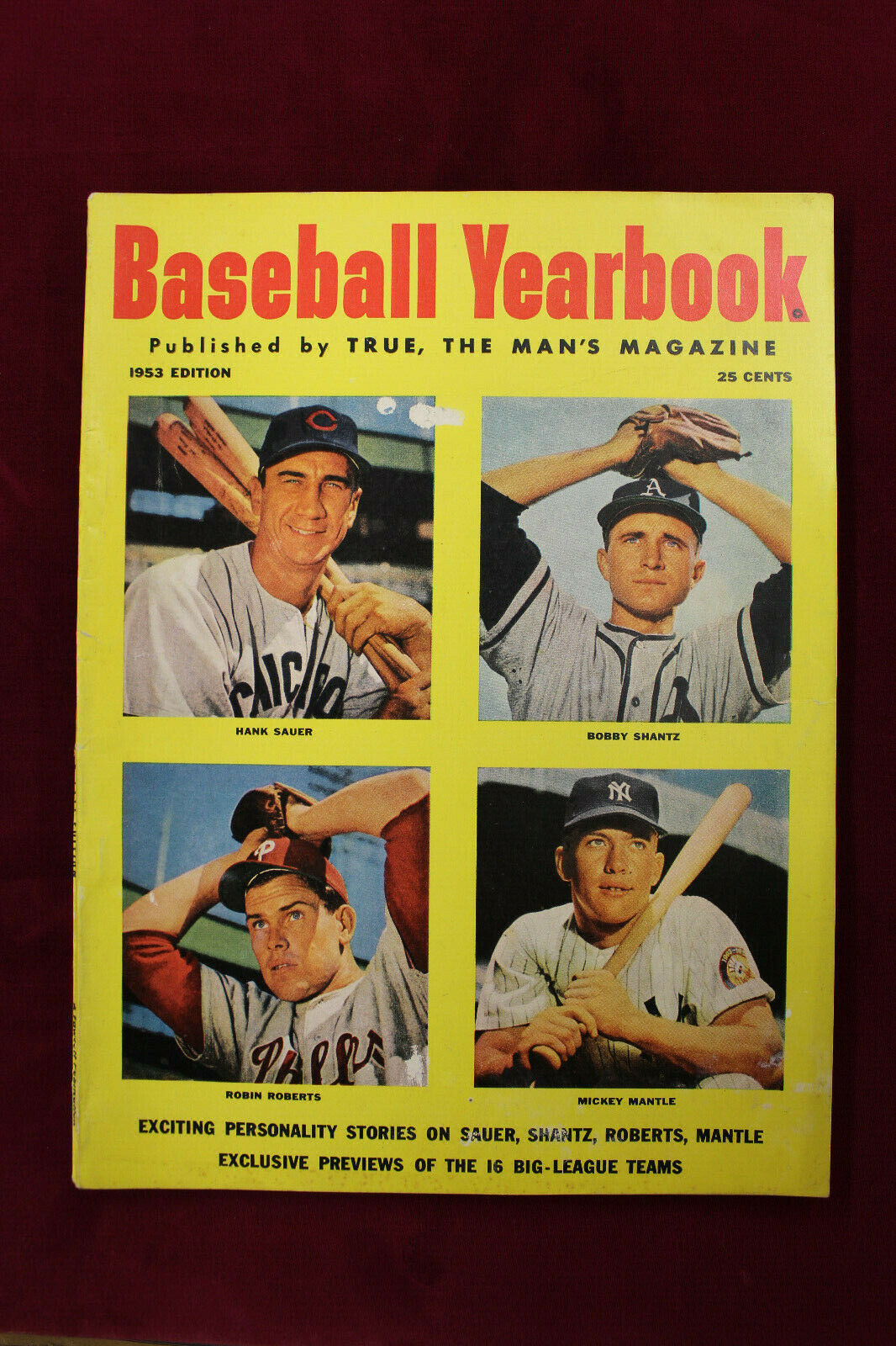 Primary image for 1953 Baseball Yearbook With Mickey Mantle Robin Roberts Cover Yankees Cubs