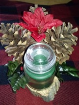 Christmas Thanksgiving Centerpiece Holiday Table Candle  Pine Cone Cedar... - $18.99