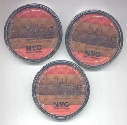 3  NYC Sun'n'Bronze Bronzing Powder in #002 Coral Samba - $4.95