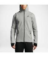 Nike Men's Jordan Shield Full-Zip Hoodie NEW AUTHENTIC Grey/Black 809486... - $94.49