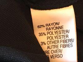 Anne Klein Black Velvet & Rayon Cutout Long Formal Dress size S M NWT $225 DS7 image 9