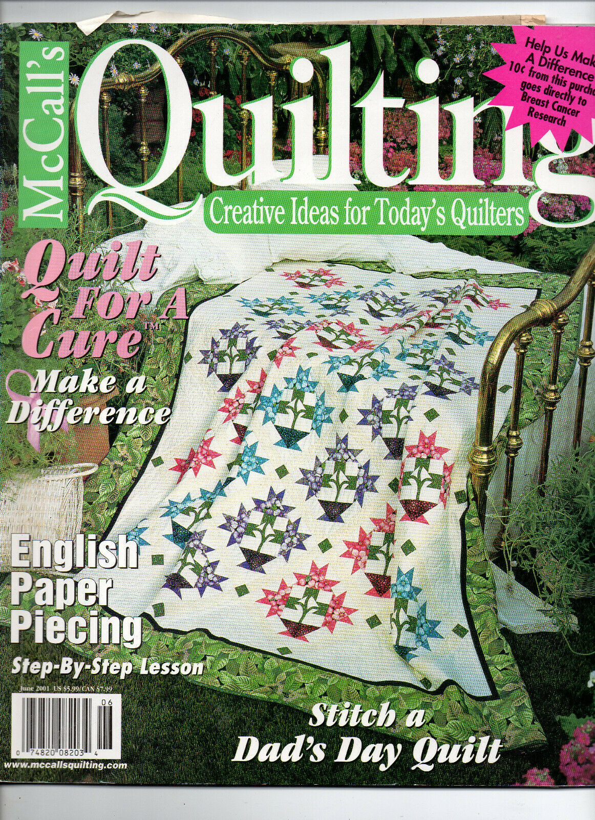 Primary image for June 2001/McCall's Quilting/Preowned Craft Magazine