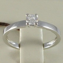 White Gold Ring 750 18K, Solitaire, Shank Square, Diamond Carat 0.27 image 2