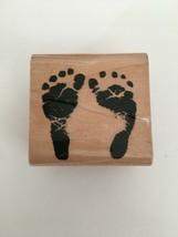 StampCraft Rubber Stamp Footprints Barefoot Scene Setting Card Making Cr... - $4.99