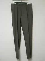 Hart Schaffner Marx New Mens 36 Reg Slacks Grayish Brown Pants Unhemmed ... - $88.11