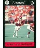 Bobby Joe Edmonds Football Card (Arkansas) 1991 Collegiate Collection #55 - $3.00
