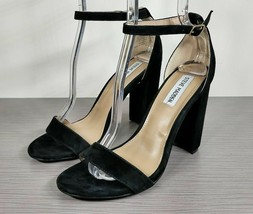 Steve Madden Carrson Sandal, Black Suede, Womens Various Sizes - $29.59