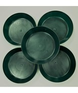 4 inch Case of 5 Austin Planter Saucers Hunter Green Colored Heavy Polyp... - $10.90