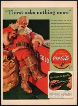 Vintage magazine ad COCA COLA from 1941 Santa Claus pictured Haddon Sund... - $13.49