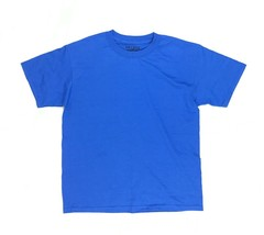 New Gildan Dry-Blend Cotton Youth Large Royal Blue T-Shirt - $5.78