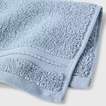 Spa Bath Towel - Threshold Signature Glowing Blue Light Blue- NEW-WITH-TAGS  image 2
