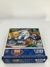 "Masterpieces Toyland Pups 300 Large Piece Jigsaw Puzzle 24 X18"" Puppies Dogs - $8.59"