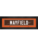 Baker Mayfield Cleveland Browns Signature Nameplate 8x24 Stitched Jersey... - $39.95