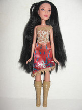 Disney Pocahontas Barbie Doll Hasbro 2015 clothes and boots - $4.99