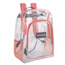 Lot of 24 Wholesale (Trailmaker Classic) 17 Inch Clear Coral Trim Backpa... - $197.99