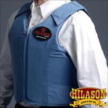 Small Hilason Bareback Pro Rodeo Horse Riding Protective Vest Denim Blue U-02-S - $139.99