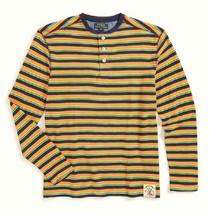 Ralph Lauren Boys' Long Sleeve Stripe Jersey Henley, Size XL (18-20) - O... - $29.69