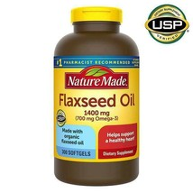 NEW Nature Made Flaxseed Oil 1400 mg., 300 Softgels FREEE SHIPPING - $26.99