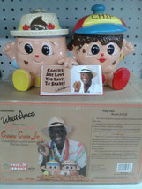 Famous Wally Amos Double Canister  Character Cookie Jar  Limited Edition... - $37.95