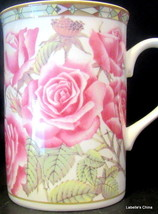 Collector's Series of Four Designs Pink Roses Mug Bone China - $29.65