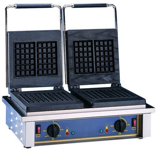 Primary image for Equipex GED Double Waffle Baker w/ Cast Iron Plates, Thermostatic, 208/240/1 V,