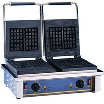 Equipex GED Double Waffle Baker w/ Cast Iron Plates, Thermostatic, 208/2... - $2,849.00