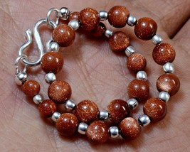 "N-2963 Sunstone Gemstone Spacer Round Plain Loose Beads 29ct 4-6mm 7"" Br... - $4.94"