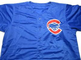 JAVIER BAEZ / AUTOGRAPHED CHICAGO CUBS BLUE CUSTOM BASEBALL JERSEY / COA image 2