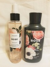 5pc Bath & Body Works ROSE Illuminating Fragrance Spray & Body Lotion Ha... - $39.59