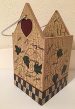 Home Interiors Birdhouse Planter 12013 Wooden Ivy Garden Decorative 9 1/... - $9.49