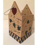 Home Interiors Birdhouse Planter 12013 Wooden Ivy Garden Decorative 9 1/... - £6.96 GBP