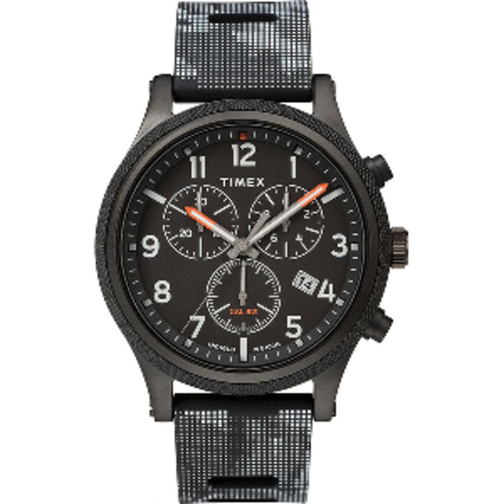 Timex Allied LT Chrono 42mm - Black Case w/Black Camo Dial - $103.13