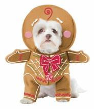 California Costume Collections Gingerbread Pup Dog Costume, Large - $17.82