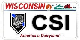 Wisconsin Aluminum NOVELTY License Plate - Crime Scene Investigator CSI - $12.82